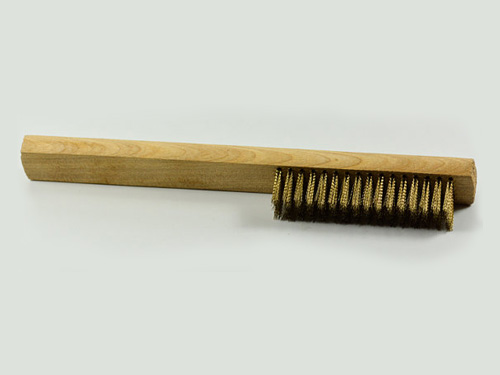 Brass Wire Brush Wood Handle