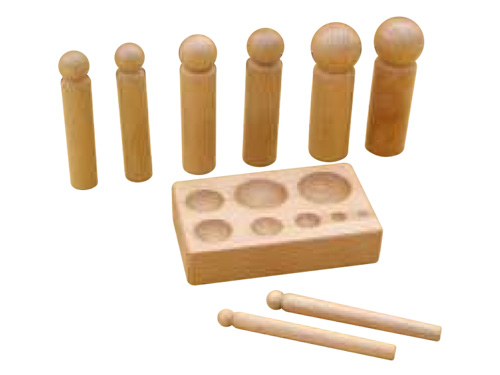 Mini Wood Dapping, Set of 8 with Block