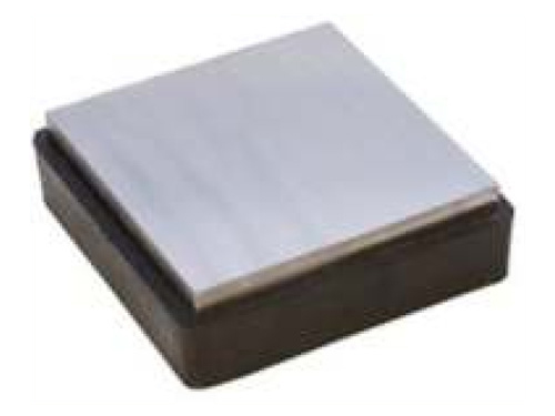 "Steel Block 4"" W/Rubber Base"